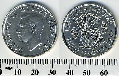 Great Britain 1942 - Half Crown Silver Coin - King George VI - WWII mintage - #1