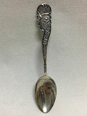 Frank Whiting Sterling Souvenir Spoon Lake George 4 3/8""