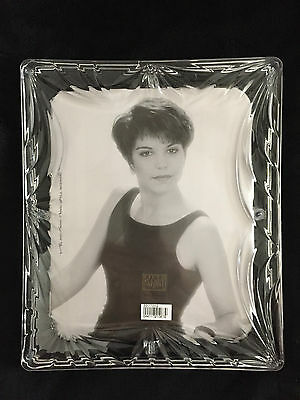 "Fifth Avenue Crystal ""Silhouette"" Picture Photo Frame 8x10 Japan NEW IN THE BOX"