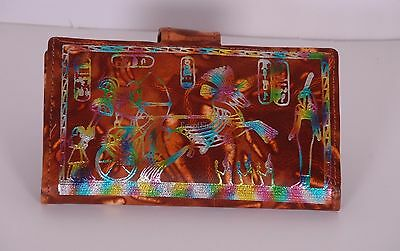 Egyptian Handcrafted Genuine Leather Wallet With Hieroglyphics Sale