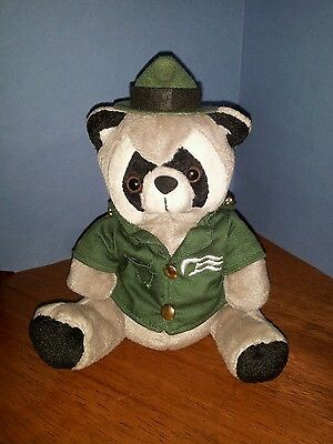 Vintage Princess Cruise Lines Ranger Raccoon Bean Bag Plush Collectible Souvenir