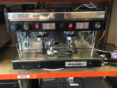 Second Hand Milano Commercial Two Group Coffee Machine