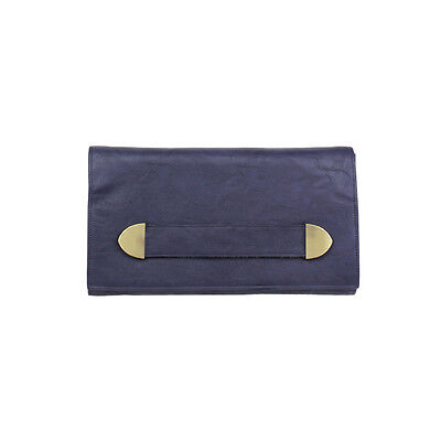 JENDI Ladies Denim Navy Blue Evening Wedding Purse Clutch Bag 4 Races & Formals