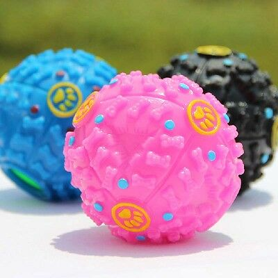 Giggle Ball Pet Dog Tough Treat Trainning Chew Sound Food Dispenser Squeaky Toy