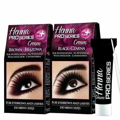 Verona Henna Cream Black Brown Eyebrow and Lashes 10 Applications Kit Tint
