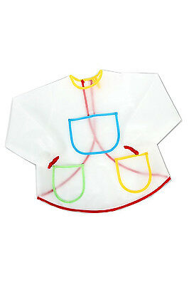 Waterproof Anti-Wear Overalls Painting Smock for Children Costume Crafts BF