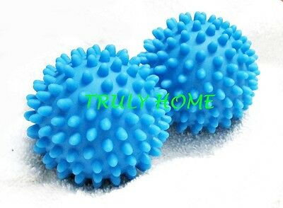 4 X Dryer Balls Reuseable Natural Way to Soften Fabric