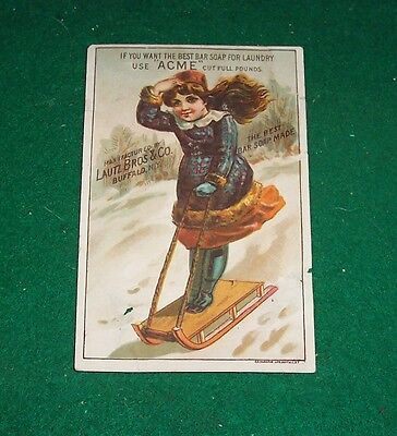 "TRADE CARD - LAUTZ BROS & CO. -Buffalo, N Y - ""ACME"" - Best Bar Soap for Laundry"