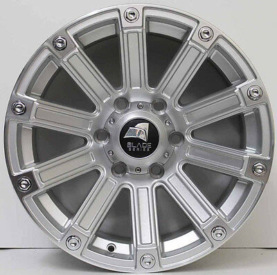 17 inch GENUINE BLADE SERIES 3  4X4 SUV NEW RELEASE ALLOY WHEELS IN SILVER
