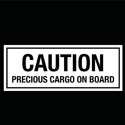 CAUTION PRECIOUS CARGO ON BOARD - Horsebox Vinyl Lettering Stickers Decals (L)