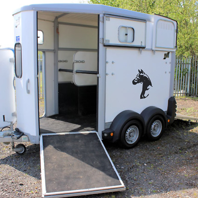 HORSES HEAD Horsebox Trailer Vinyl Stickers Decals Graphics (XL)