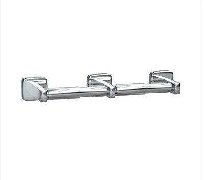 Dual Double Toilet Roll Holder - 304 Stainless Steel Mounts