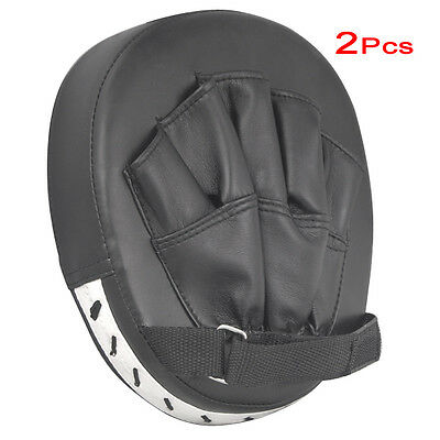 2x focus pads hook mitts boxing gloves sparring punch bag training pair MMA BF