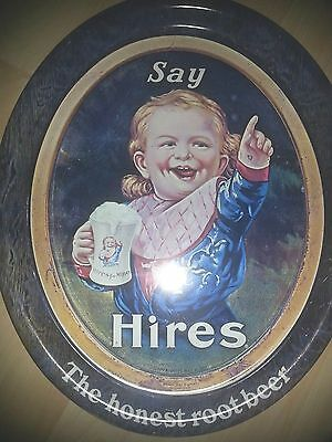 Hires Root Beer Metal/Tin Serving Tray - Say Hires! - Child - **REPLICA**