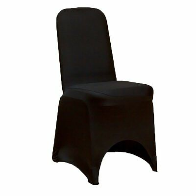 Black Chair Covers Spandex Lycra Wedding Banquet Anniversary Party Decor...