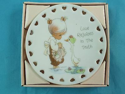 Vintage 1993 Precious Moments Porcelain Plate Love Rejoices In The Truth #205877