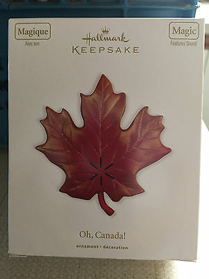 Oh, Canada Hallmark ornament with sound - Great for Canada's 150th birthday