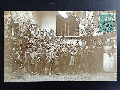 CP carte postale Indo Chine Groupe enfants