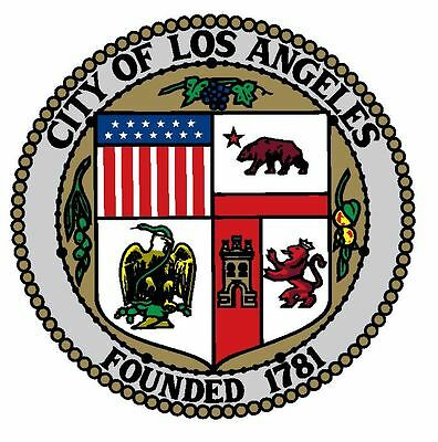 Seal of Los Angeles Sticker / Decal R644