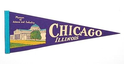 A Chicago Illinois Museum of Science and Industry Pennant Flag
