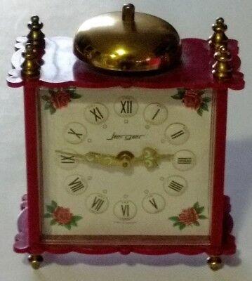 Vintage Wind Up Jerger Alarm Clock