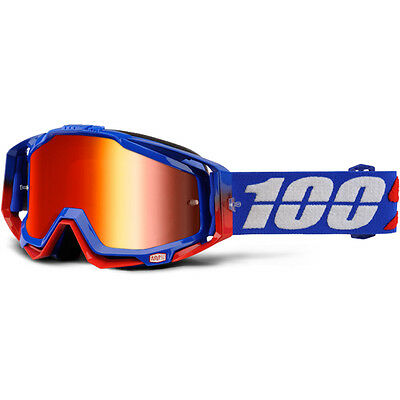 100% Percent Mx NEW Racecraft Republic Dirt Bike Red Tinted Motocross Goggles