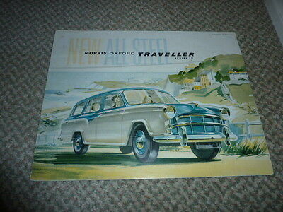 Morris Oxford Series IV Traveller 1957 Original UK Foldout Brochure