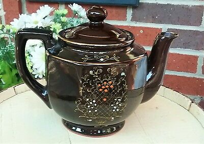 Vintage Japanese Teapot- Brown Teapot- Redware- China- Porcelain- Potter