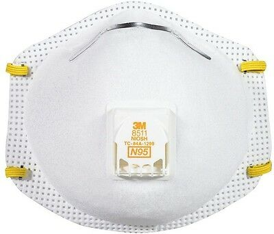6-Case Paint Sanding Valved Respirator Filtering Face Piece Mask Protective Gear