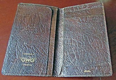 GWG Edmonton Great Western Garment Document Card Wallet Holder Vintage Leather