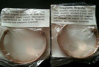 Magnetic Copper Bracelet With Medicinal Benefits Fits All Size Yoga
