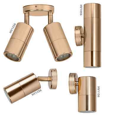 LED Gold Outdoor Wall Lights Up Down or Adjustable Havit Lighting Exterior