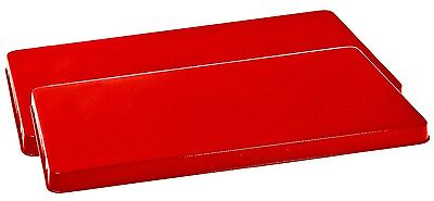 Reston Lloyd Rectangular Stove Burner Covers, Set of 2 RED Free Shipping