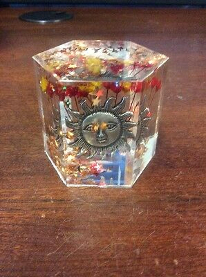 "Sun Valley Hexagonal Snow Globe - Pre Owned 1 7/8"" Tall"