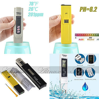 Digital PH Meter & TDS LCD Tester Lab Aquarium Pool Hydroponic Water Monitor WUY