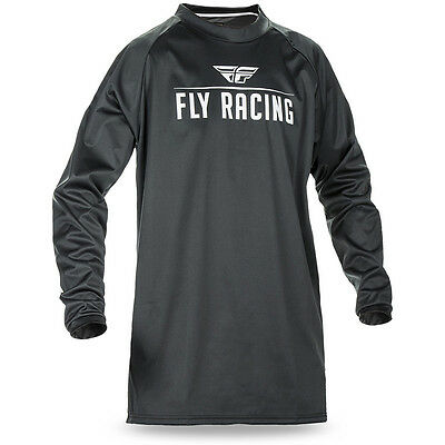 Fly Racing 2017 Mx NEW Black Windproof Dirt Bike Cold Weather Motocross Jersey