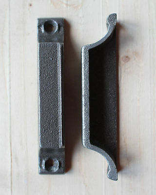 CAST IRON RIM LOCK DOOR KEEP 110mm ~ BRITISH MADE VICTORIAN RIMLOCK KEEPS ~ KP08