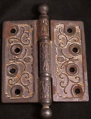 Ornate Antique Cast Iron Door Hinge
