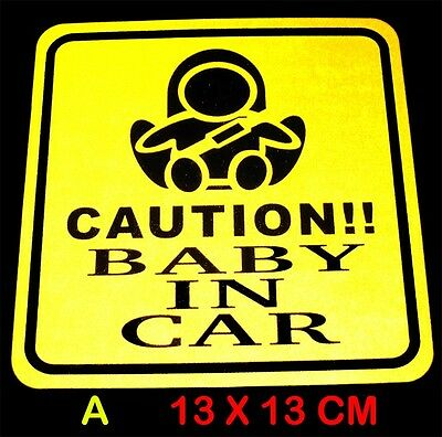 HI-VIS Baby In Car / Baby On Board Safety Warning Sign Decal