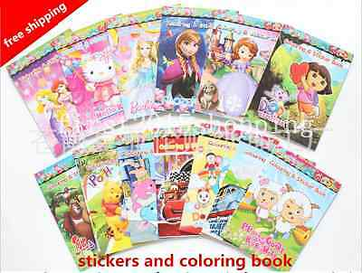Hot!Children favorite Cartoon Stickers, Coloring Books-kid gift(no Coloring pen)