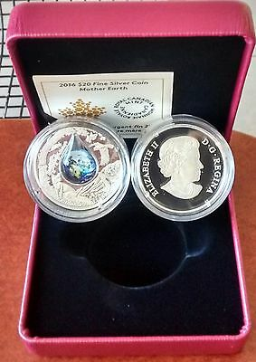 Mother Earth Coin $20 2016 1OZ Pure Silver Proof Canada Coin.