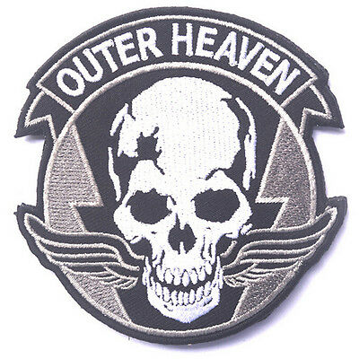 Outer Heaven Usa Army Tactical Military Morale Badge Embroidered Hook Loop Patch