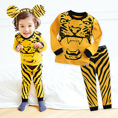 "NWT Vaenait Baby Infant Toddler Kids Boys Clothes Pajama Set ""Wild Tiger"" 12M-7T"