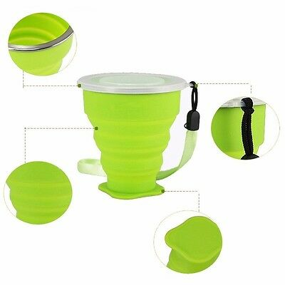 Portable Travel Cup Retractable Folding Mini Telescopic Collapsible Outdoor Tool