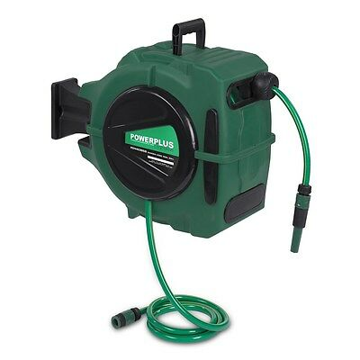 POWERPLUS 20M Garden Wall Mounted Automatic Hose Reel POW63858