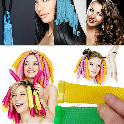 Pro 18PCS Hair Rollers DIY Curlers Large Magic Circle Twist Spiral Styling Tools