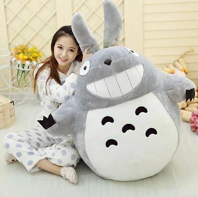 NEW My Neighbor Totoro Anime Movie Soft Plush Toy Doll Large Pillow Figure 80CM