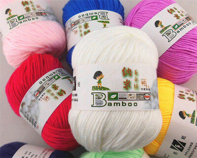 Ball x 50g Hand-woven NEW Knitting Baby wool yarn NanoProtein velvet 87 Colors