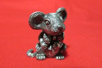 Pewter  Mouse Figurine