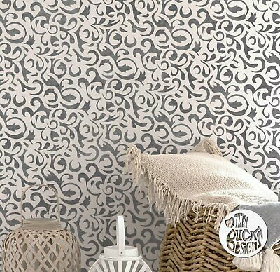 Furniture Wall Floor Craft Stencil - SAKARYA Brocade Damask Stencil